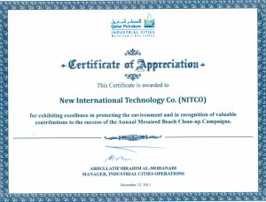 CERTIFICATE OF APPREICATION - ANNUAL MESAIEED BEACH CLEAN-UP CAMPAIGNS - QP